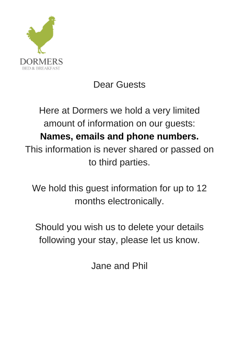 Dormers DataProtection